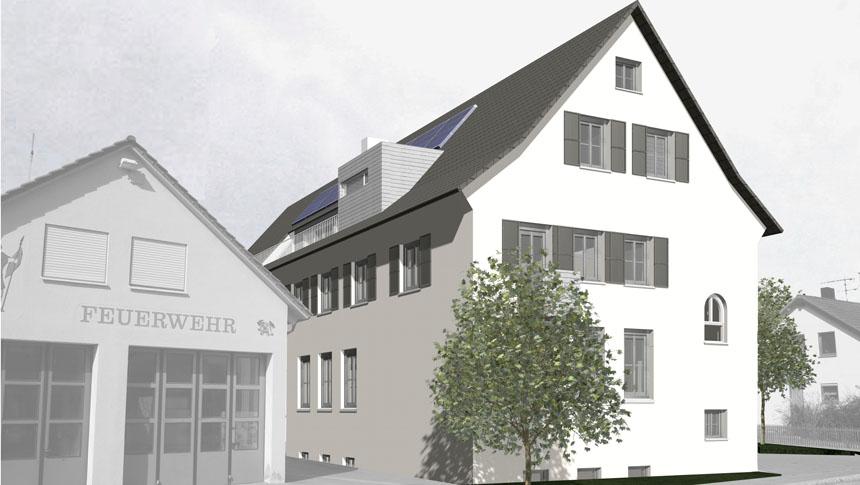 Rathaus Schlichten Südseite